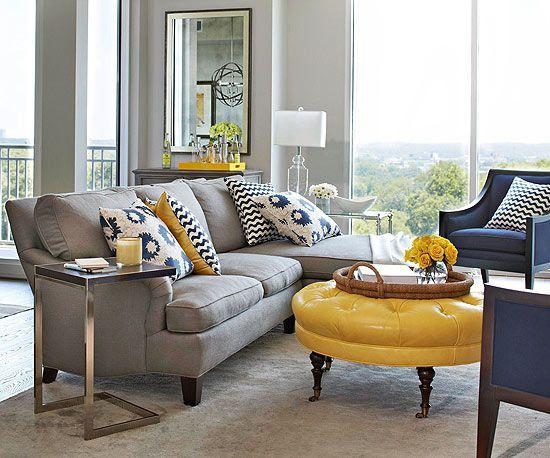 Azul e Amarelo na decoração