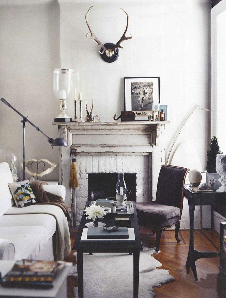 Sala decorada com couro