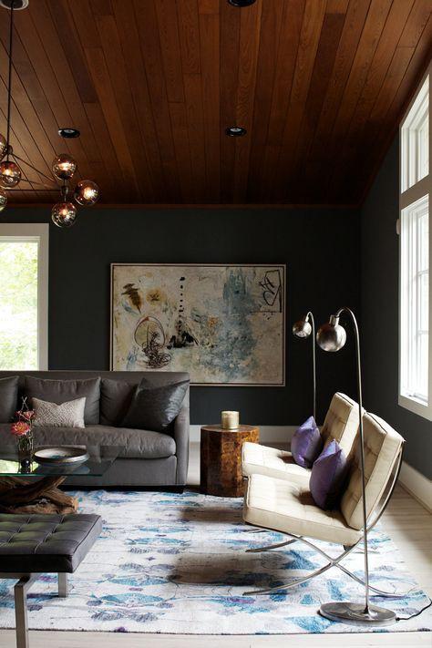 Sala com decoração moderna vintage