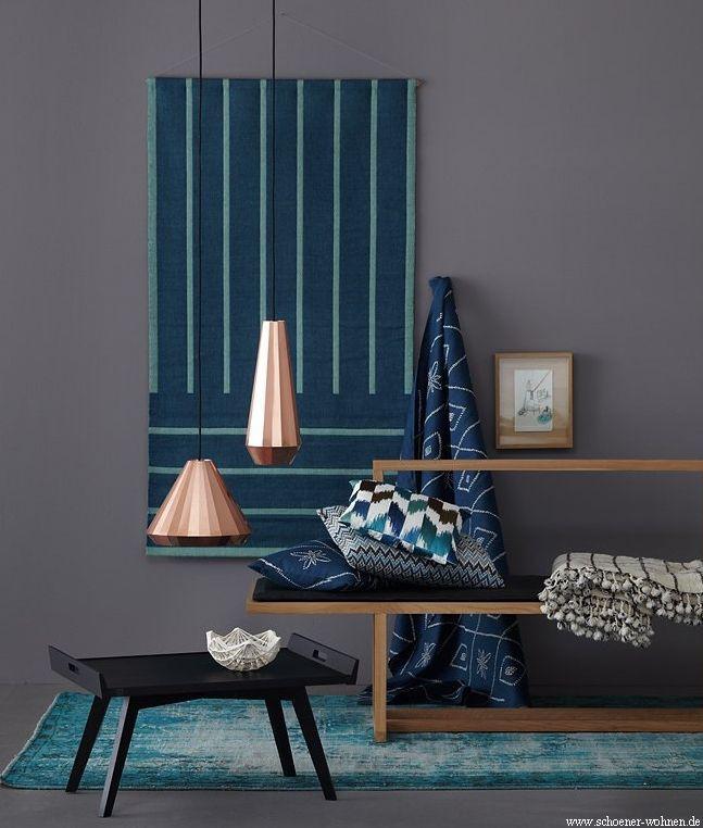 Azul em destaque na decoração