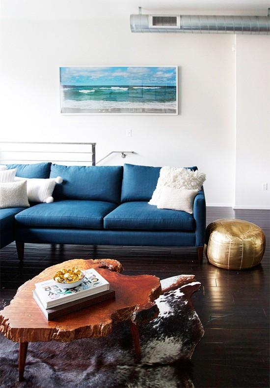 Mobiliário em Azul