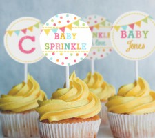 Toppers para Cupcakes – Confete