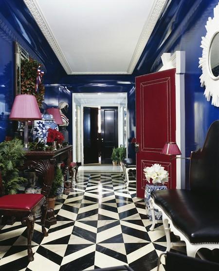 Azul e Marsala na decoração
