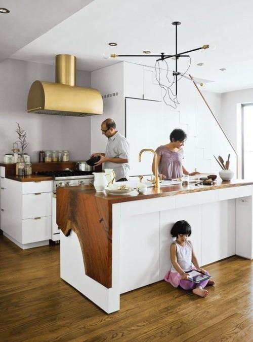 Acabamento em Ouro na Cozinha